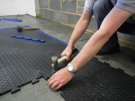 Installation of Modular Matting