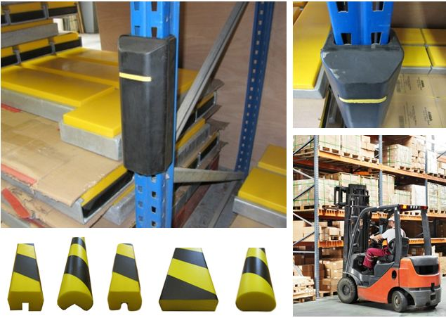 Examples of racking protectors for racking